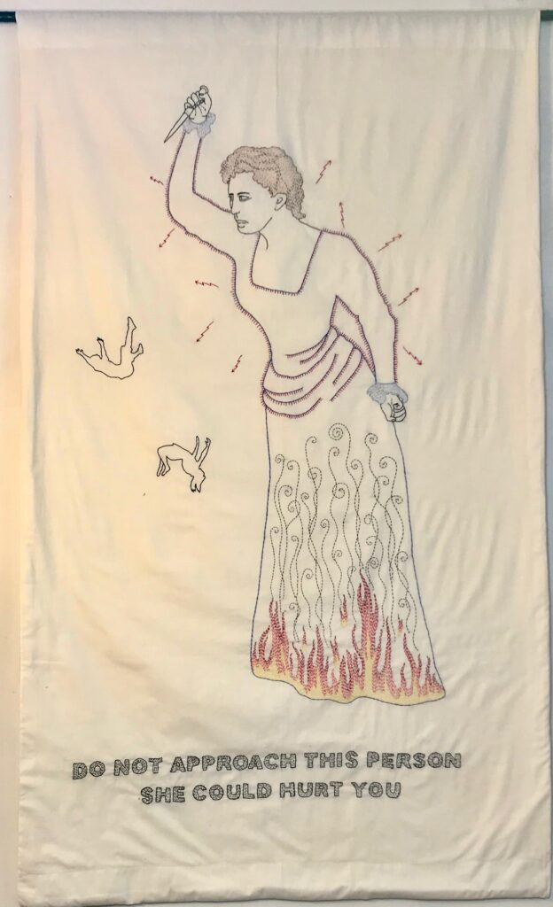 Re-Education: Hurt You /58 x 34/hand-embroidery/2021
